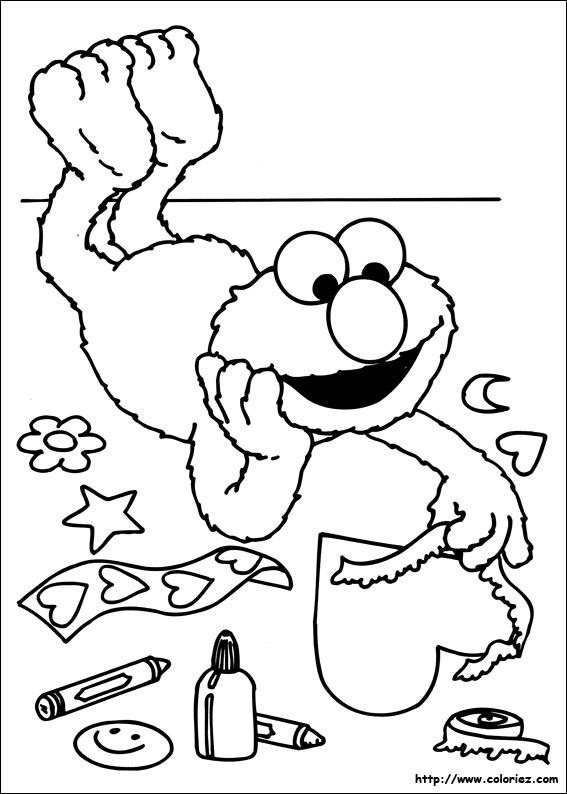Coloriage Coloriage D Elmo Amoureux