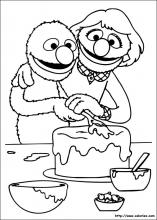 Coloriage de Elmo patissier