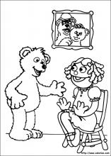 Coloriage de l'ours Curly