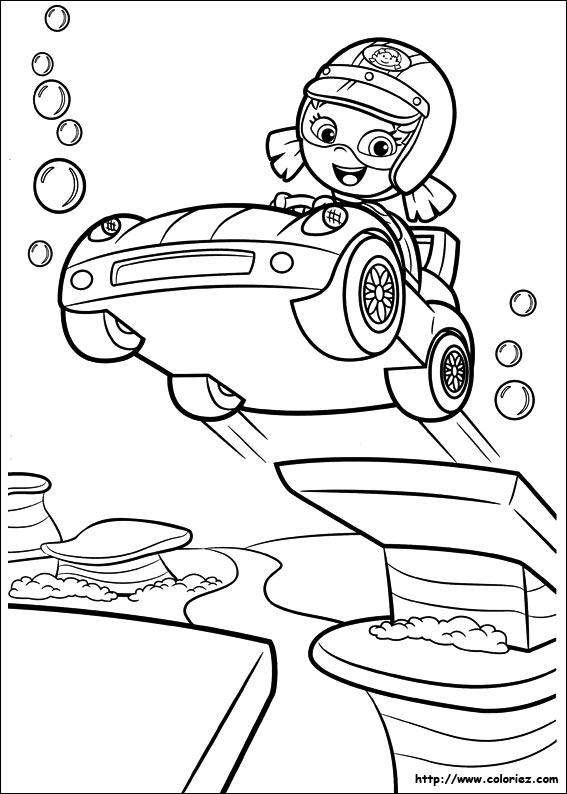 Coloriage le saut - Jeux bubble guppies ...