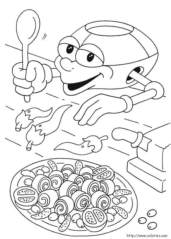 Coloriage ticook le robot cuisinier - Coloriage cuisinier ...