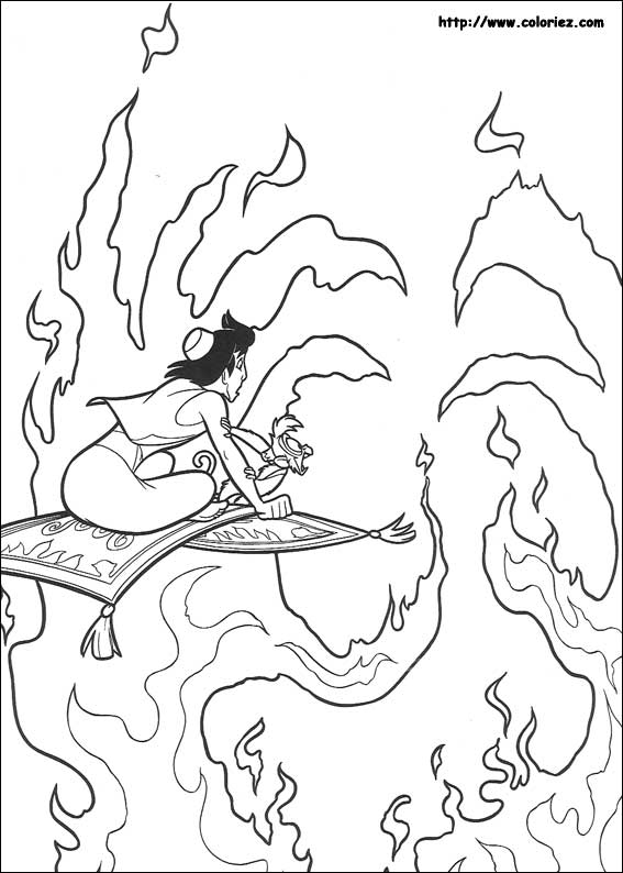 Coloriage Aladdin Choisis Tes Coloriages Aladdin Sur