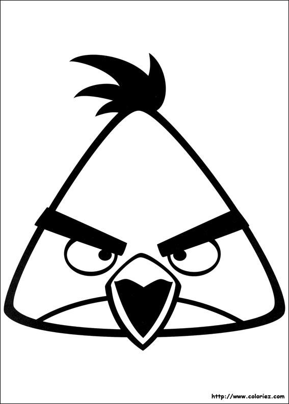 Coloriage attaque programm e - Dessin de angry birds ...