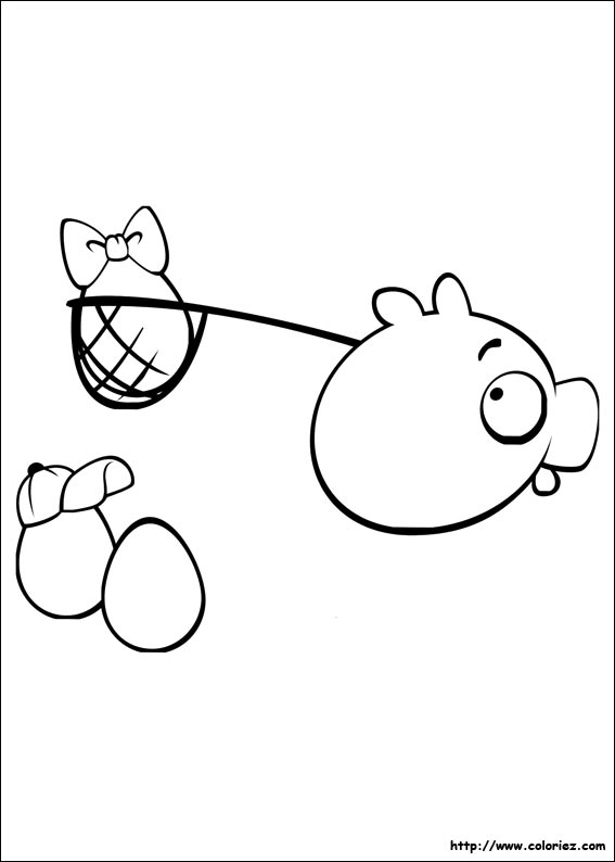 Coloriage oeufs au filet - Coloriage angry birds ...