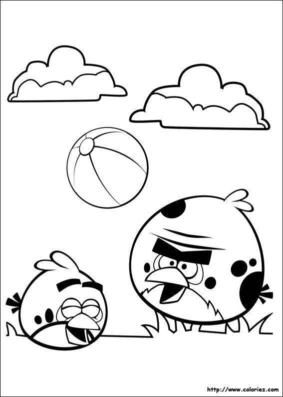 Ballon Pour Coloriage.Coloriage Jeux De Ballon Pour Angry Birds