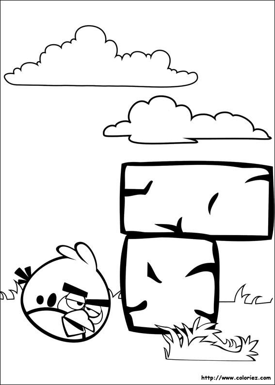 Coloriage jeux de briques - Angry bird dessin ...