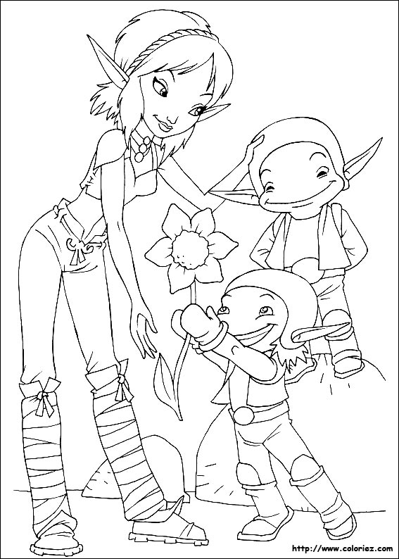 Coloriage une fleur pour selenia - Une fleur dessin ...