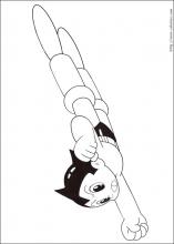 Coloriage d'Astro boy le super héro