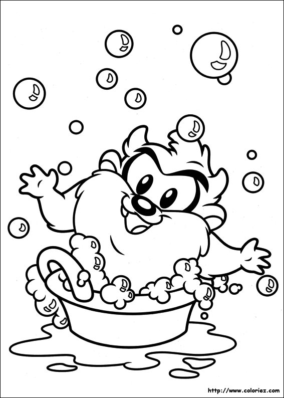 Free coloring pages of baby taz logo