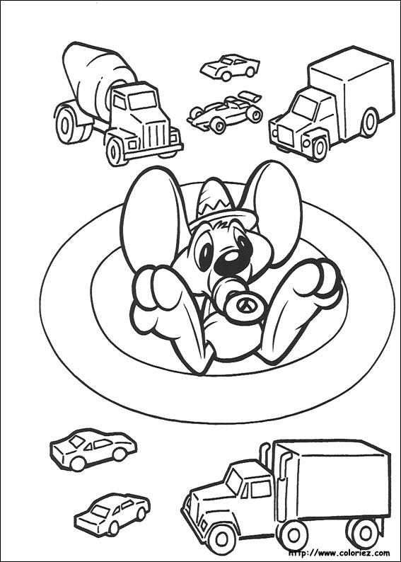 Coloriage coloriage de baby speedy - Coloriage baby looney tunes ...