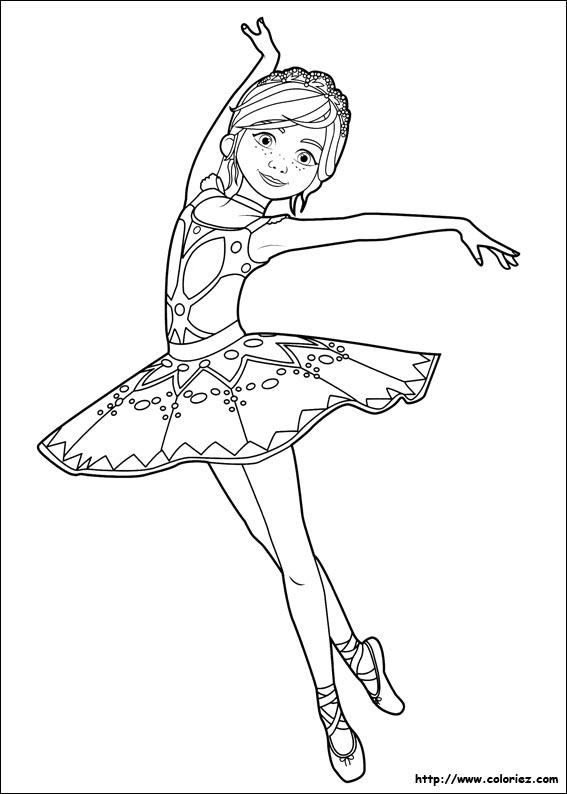 Coloriage Félicie Danseuse étoile