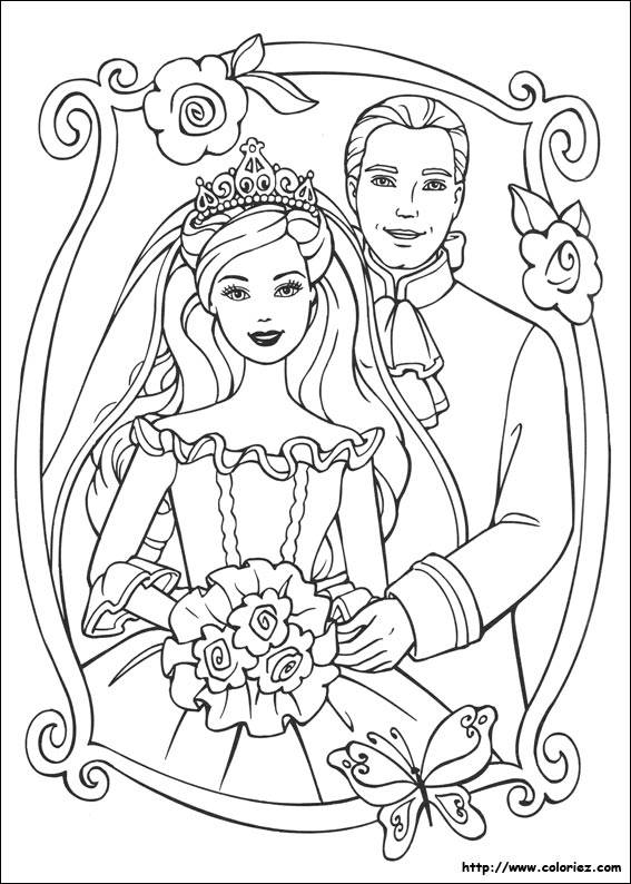 Coloriage barbie coeur de princesse - Barbie princesse coloriage ...