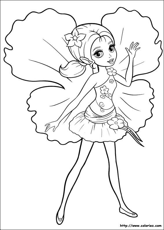 coloriage barbie lil - Coloriages Barbie