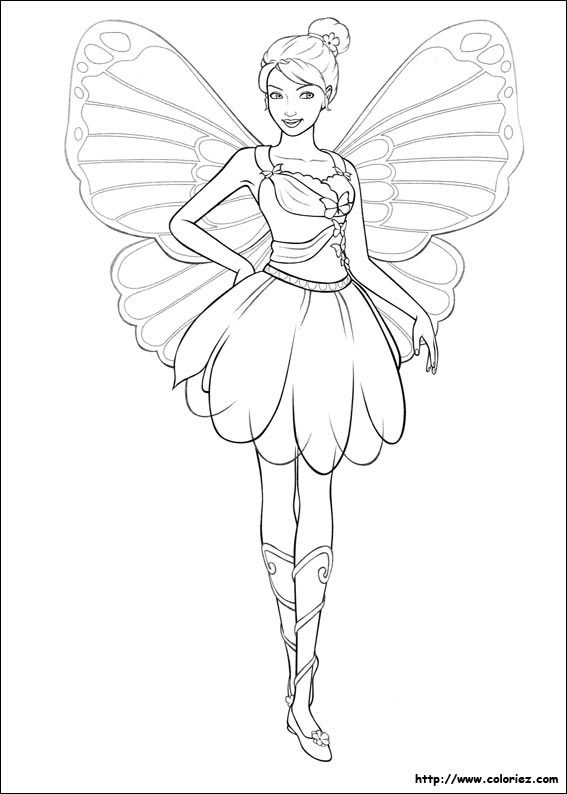 Index Of Images Coloriage Barbie Mariposa