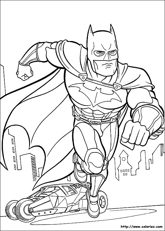Coloriage batman dans gotham city - Coloriage batman ...