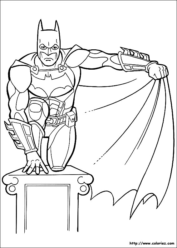 Coloriage batman l 39 affut - Coloriage batman ...