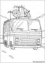 Coloriage du camping car