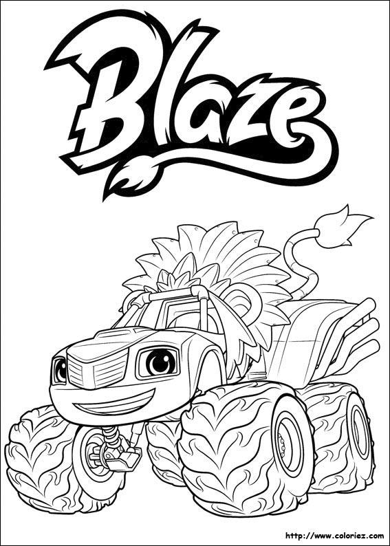 Index Of Images Coloriage Blaze Et Les Monster Machines