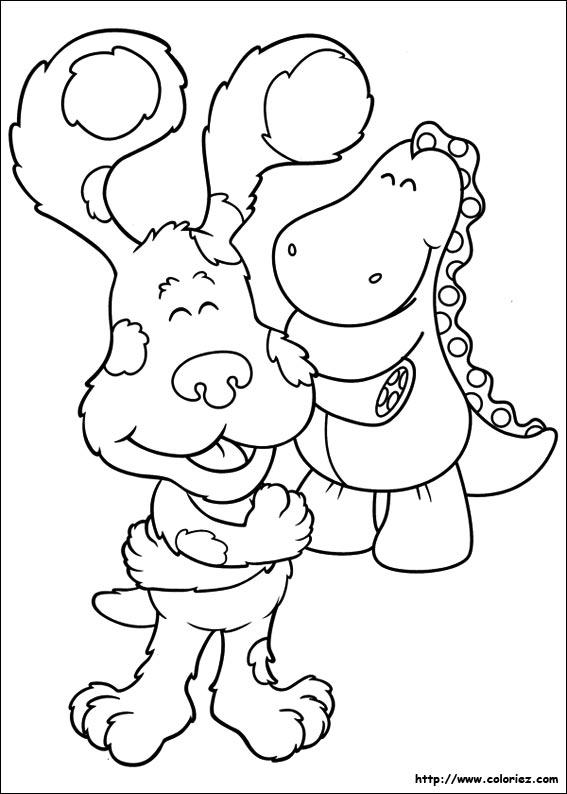 Coloriage de Blue se fait son propre calin