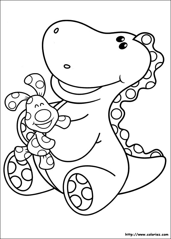 Coloriage du calin de Roar E. Saurus