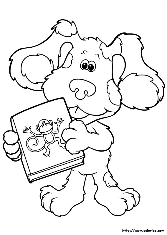 blue dog coloring pages - photo#21