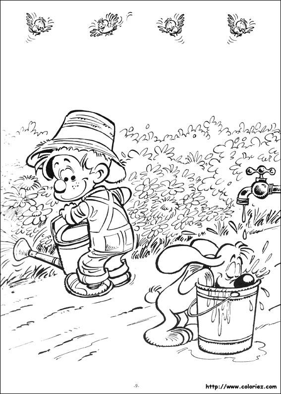 Coloriage boule et bill au jardin for Site de jardinage en ligne