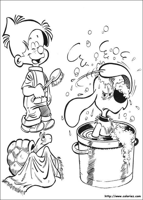 Coloriage la toilette de boule - Boule et bill coloriage ...
