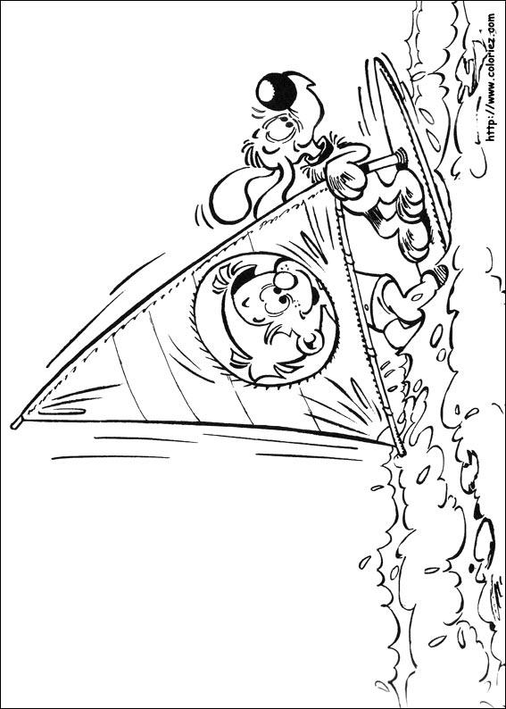 Coloriage boule et bill en planche voile - Boule et bill coloriage ...