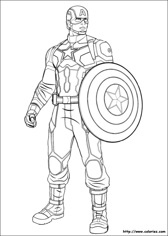 Coloriage Captain America Captain America Civil War Coloring Pages
