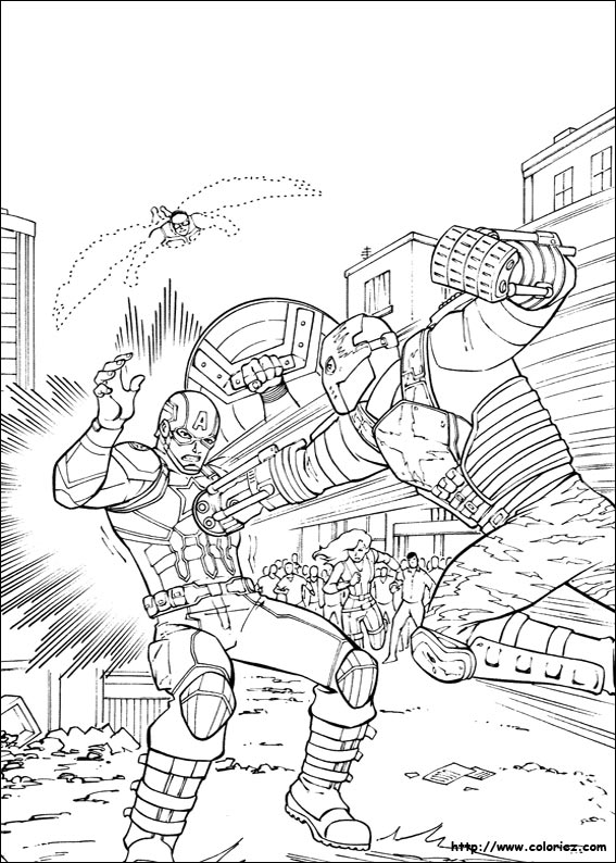 Coloriage crosshomes vs captain america - Jeux de captain america gratuit ...