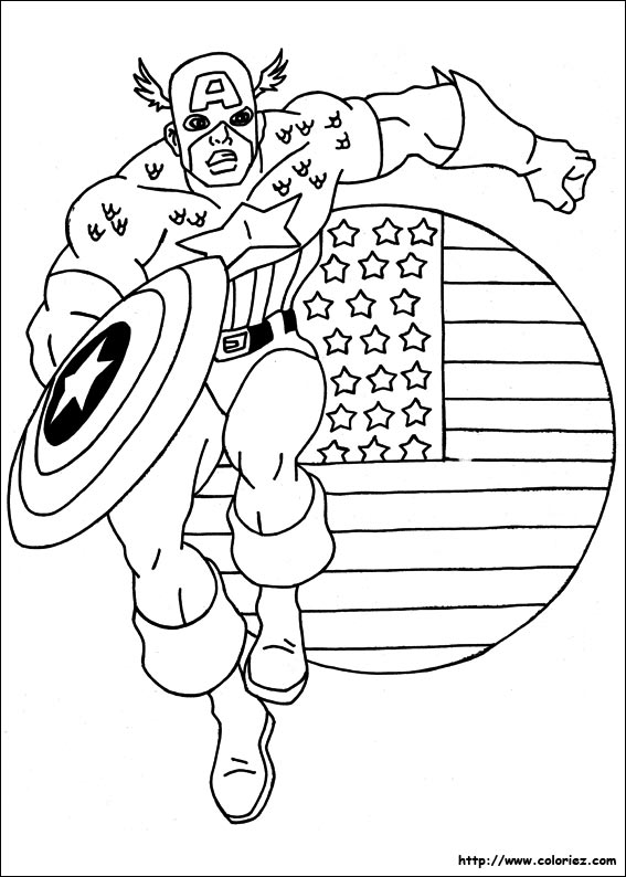 Coloriage le bouclier de captain america - Dessin captain america ...