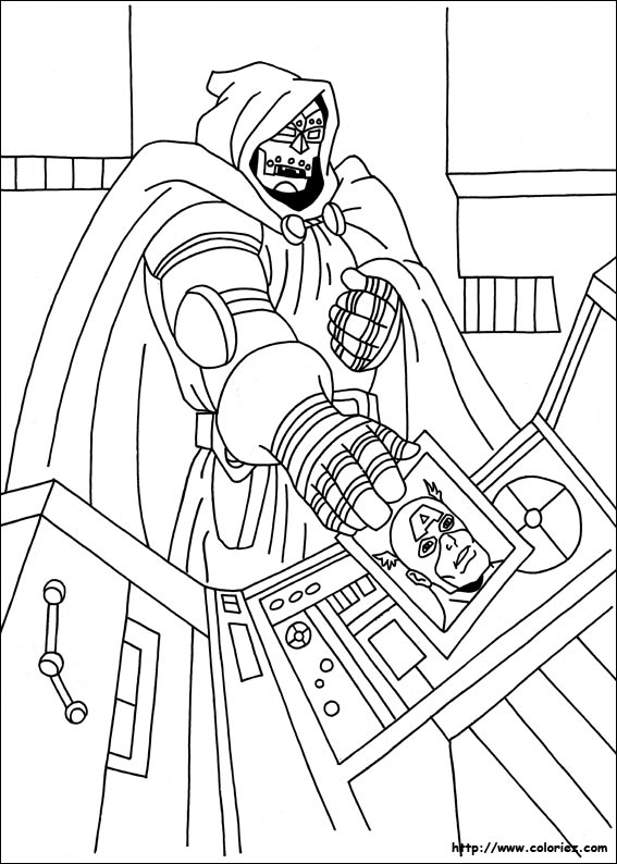 Coloriage coloriage docteur doom - Captain america coloriage ...