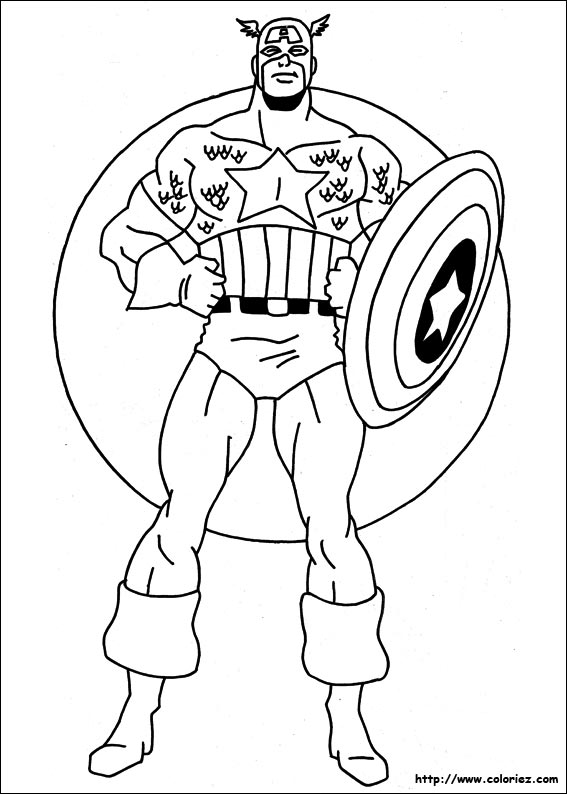 Disney xd avengers coloring pages ~ Coloriage204: coloriage captain america