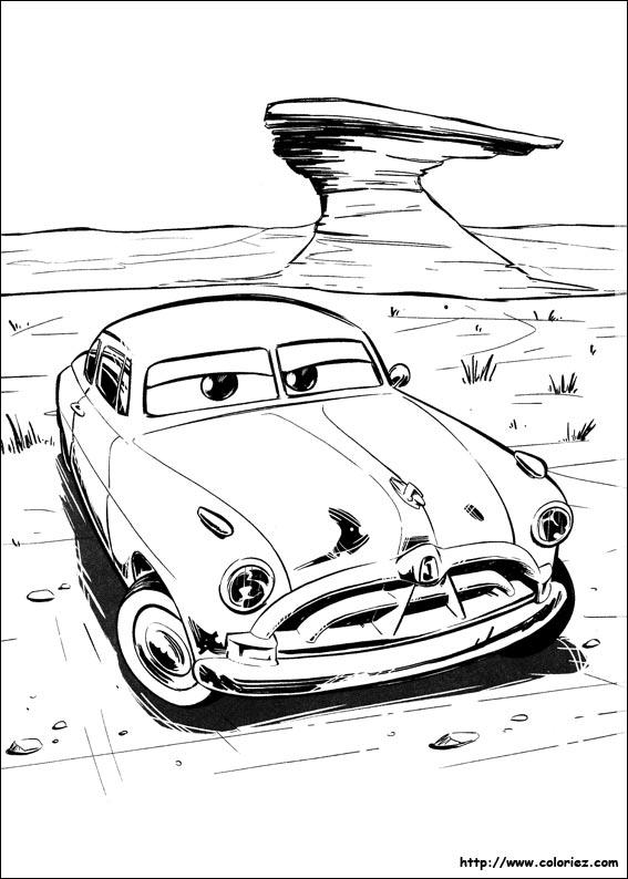 Coloriage doc hudson la l gende - Coloriage la cars ...