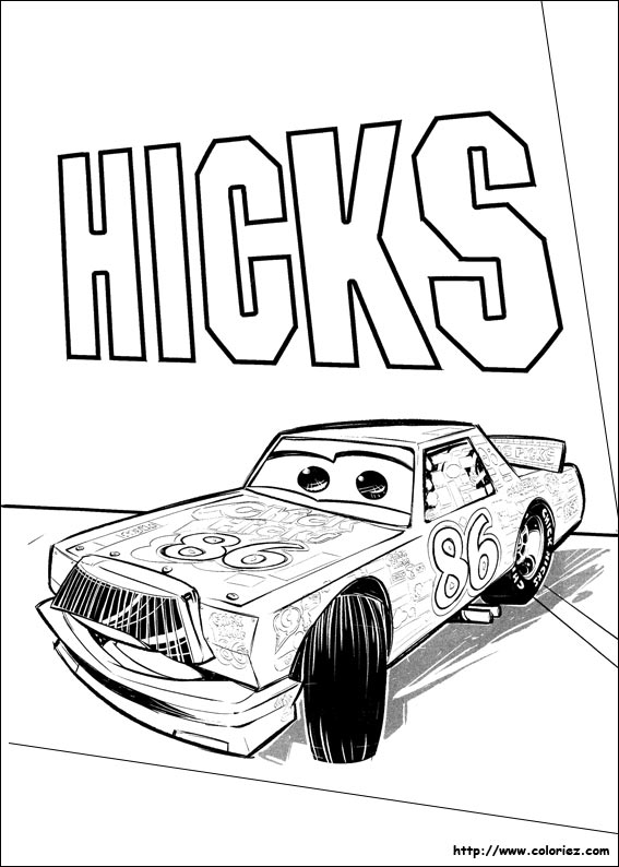 Coloriage chick hicks pr sentateur tv - Coloriage cars 3 ...