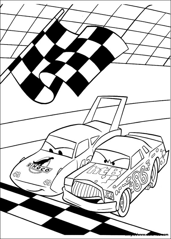 Coloriage coloriage du d part de course - Car coloriage ...