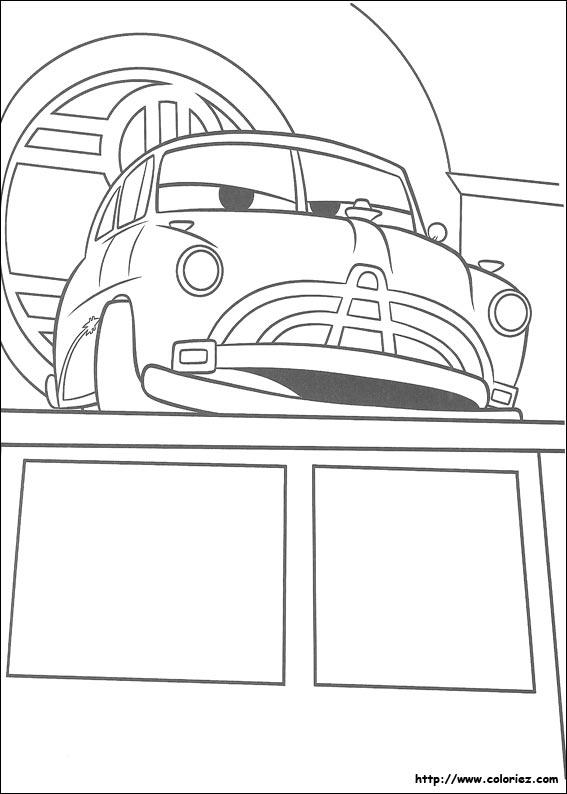 Car Movie Coloring Pages : Coloriage de doc hudson