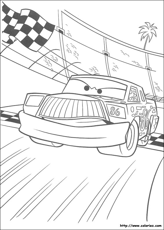 Coloriage chick hicks - Coloriage cars chick hicks ...