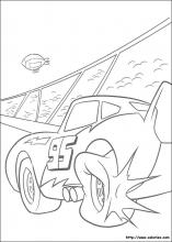 Coloriage de Flash McQueen crève