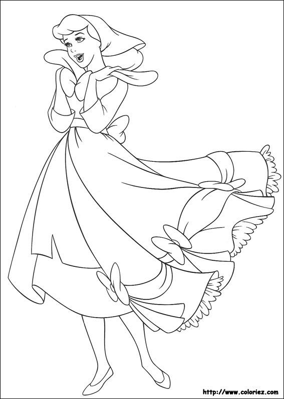 Coloriage Cendrillon Porte Une Belle Robe How To Draw Princess Cinderella Free Coloring Sheets