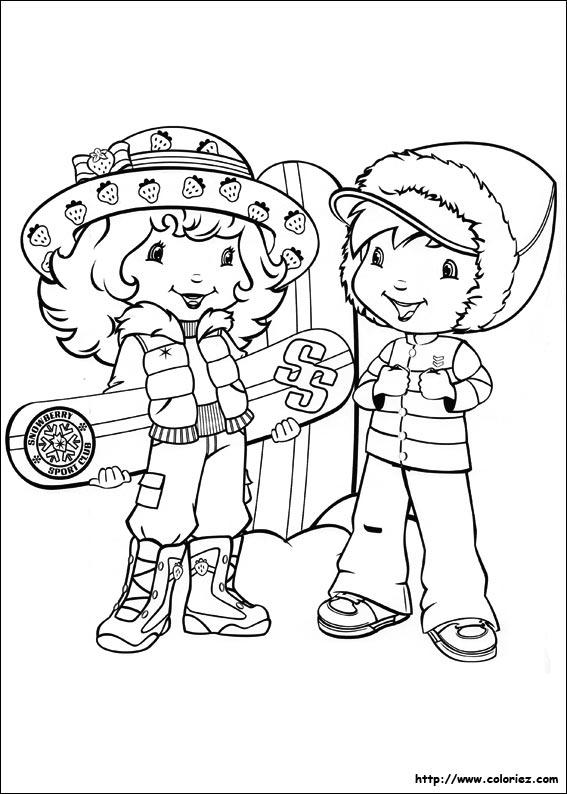 Coloriage coloriage de charlotte au sport d 39 hiver - Coloriages charlotte aux fraises ...