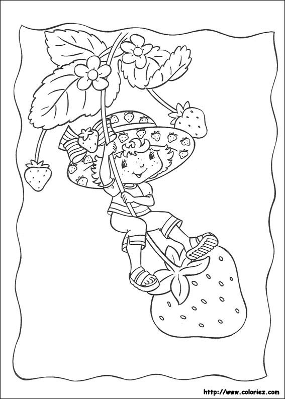 Coloriage coloriage des jeux de fraisi paradis - Dessin charlotte aux fraises ...