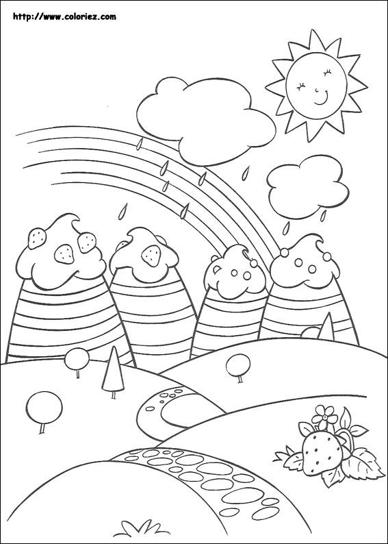 Coloriage arc en ciel fraisi paradis - Coloriage campagne ...