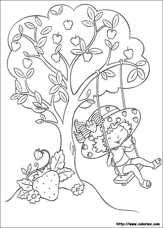 Coloriage charlotte fait de la balan oire - Coloriages charlotte aux fraises ...