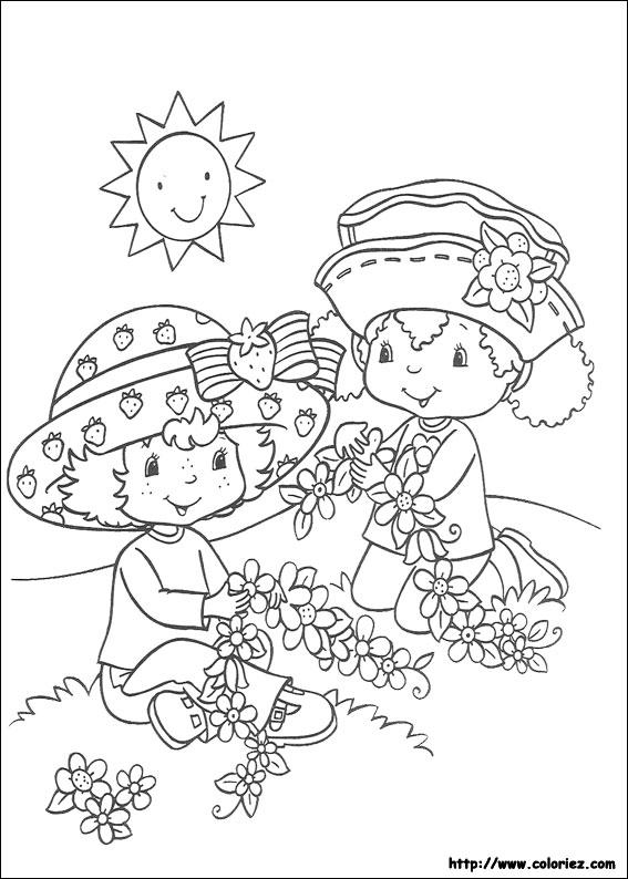 Coloriage coloriage des colliers de fleurs - Charlotte aux fraises dessin ...
