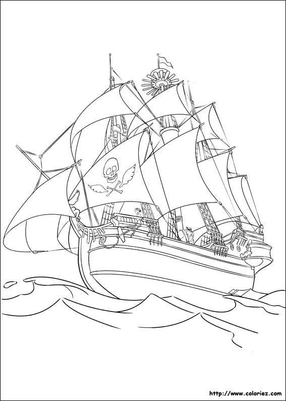 Coloriage le bateau des pirates - Coloriage bateau de pirate ...