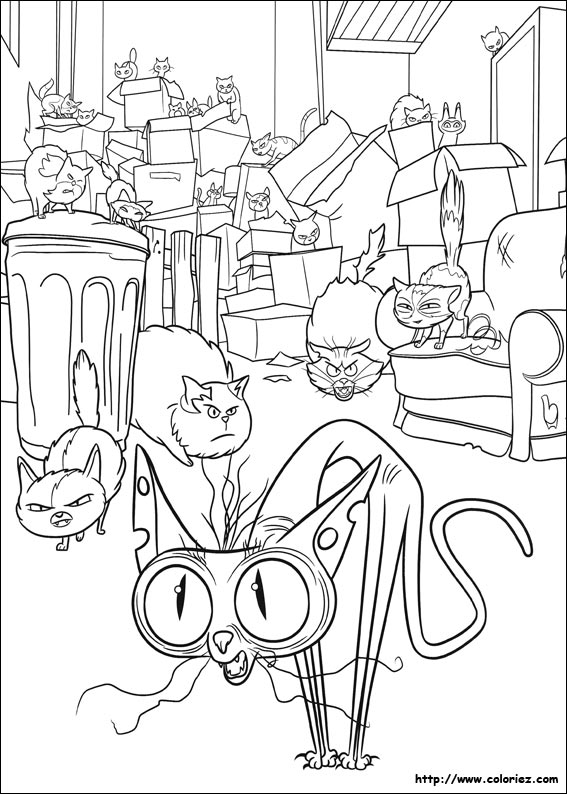 Coloriage ozone et ses amis for Secret life of pets printable coloring pages