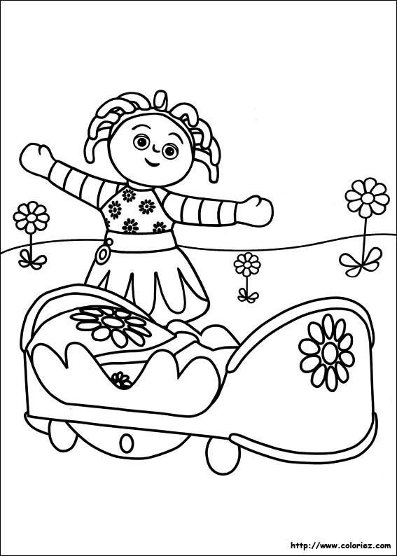 coloriage coloriage d 39 upsy daisy et son lit. Black Bedroom Furniture Sets. Home Design Ideas