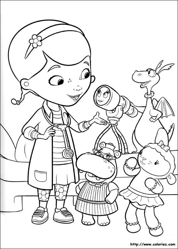 Coloriage doc et ses amis - Docteur la peluche coloriage ...