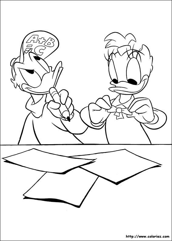 Coloriage les antis ches de donald - Donald coloriage ...